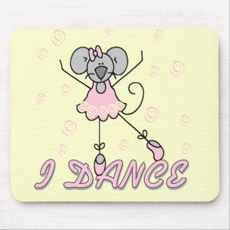 Camisetas y regalos del ballet del ratón tapetes de ratón