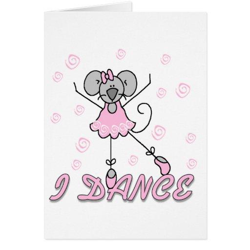 Camisetas y regalos del ballet del ratón tarjeta de felicitación