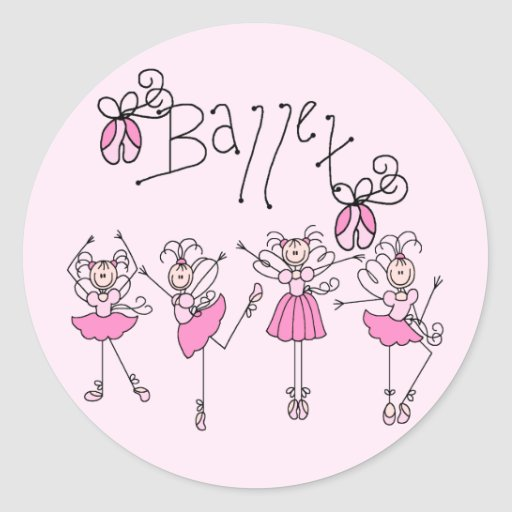 Camisetas y regalos del ballet pegatina redonda