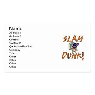 Camisetas y regalos del baloncesto de la clavada plantilla de tarjeta de negocio