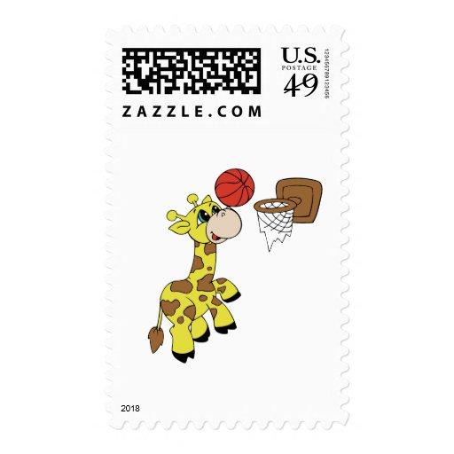 Camisetas y regalos del baloncesto de la jirafa franqueo