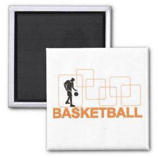 Camisetas y regalos del baloncesto de la silueta iman
