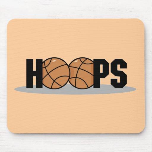 Camisetas y regalos del baloncesto de los aros tapetes de ratón