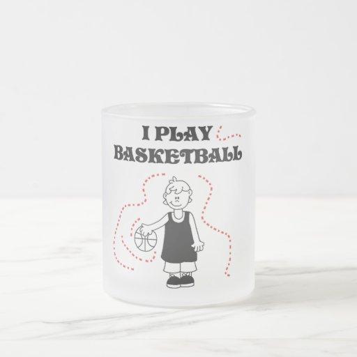 Camisetas y regalos del baloncesto del juego del m taza cristal mate