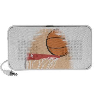 Camisetas y regalos del baloncesto del lanzamiento altavoces