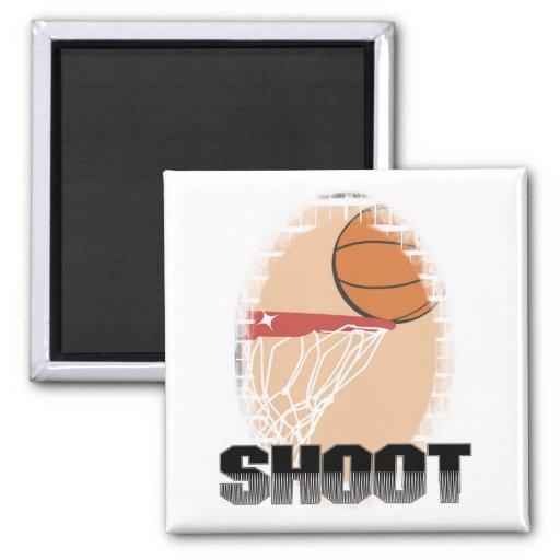 Camisetas y regalos del baloncesto del lanzamiento imanes de nevera