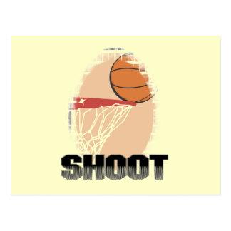 Camisetas y regalos del baloncesto del lanzamiento tarjeta postal