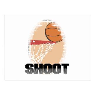Camisetas y regalos del baloncesto del lanzamiento postal