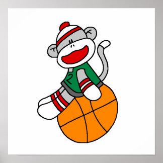 Camisetas y regalos del baloncesto del mono del ca póster