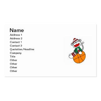 Camisetas y regalos del baloncesto del mono del tarjetas de visita