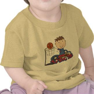 Camisetas y regalos del baloncesto del muchacho de