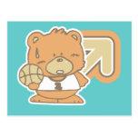 Camisetas y regalos del baloncesto del oso postal