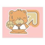 Camisetas y regalos del baloncesto del oso tarjeta postal