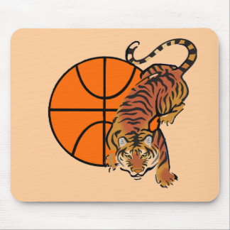 Camisetas y regalos del baloncesto del tigre tapete de ratones