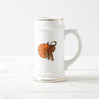 Camisetas y regalos del baloncesto del tigre tazas