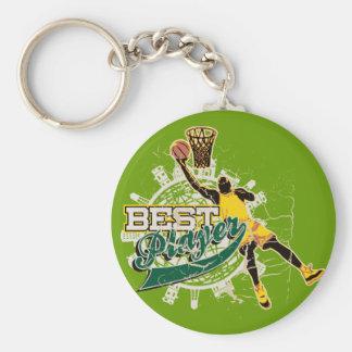Camisetas y regalos del baloncesto llavero redondo tipo pin
