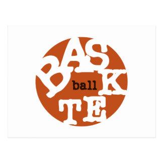 Camisetas y regalos del baloncesto tarjeta postal
