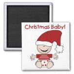 Camisetas y regalos del bebé del navidad iman para frigorífico