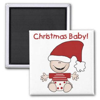 Camisetas y regalos del bebé del navidad imán cuadrado