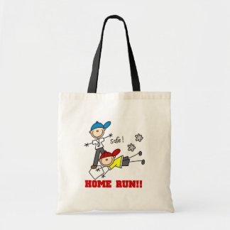 Camisetas y regalos del béisbol de los muchachos d bolsas lienzo