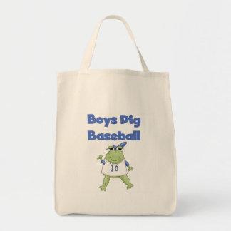 Camisetas y regalos del béisbol del empuje de los bolsa tela para la compra