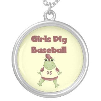Camisetas y regalos del béisbol del empuje de los  collar personalizado