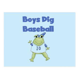 Camisetas y regalos del béisbol del empuje de los postal