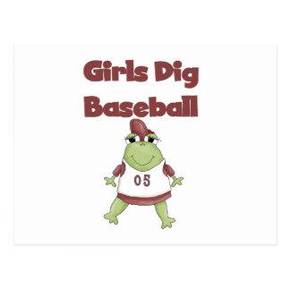 Camisetas y regalos del béisbol del empuje de los postales