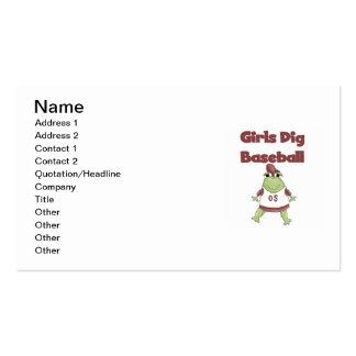 Camisetas y regalos del béisbol del empuje de los plantilla de tarjeta de negocio