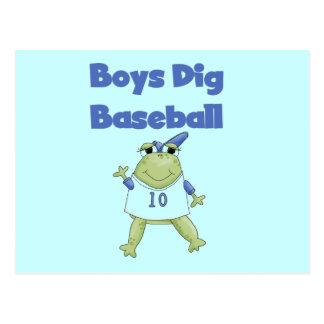 Camisetas y regalos del béisbol del empuje de los tarjeta postal