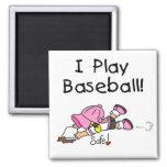 Camisetas y regalos del béisbol del juego del chic imanes