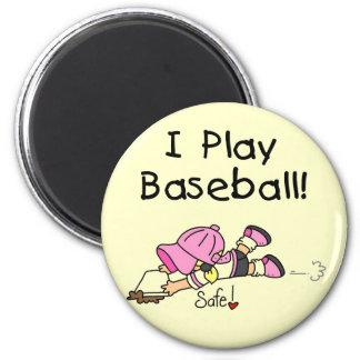 Camisetas y regalos del béisbol del juego del chic imán de nevera