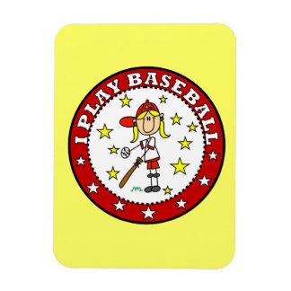 Camisetas y regalos del béisbol del juego del chic imán rectangular