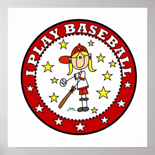 Camisetas y regalos del béisbol del juego del chic posters