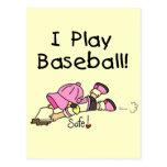 Camisetas y regalos del béisbol del juego del chic postal