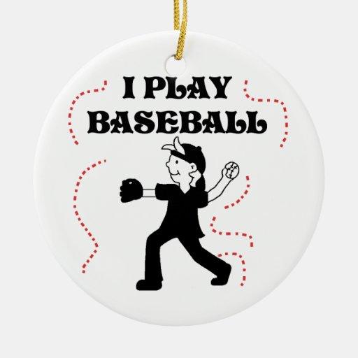 Camisetas y regalos del béisbol del juego del adornos de navidad