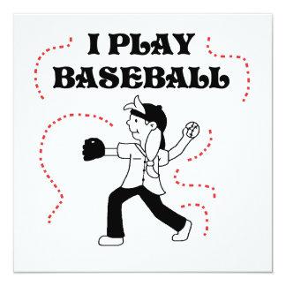 """Camisetas y regalos del béisbol del juego del invitación 5.25"""" x 5.25"""""""