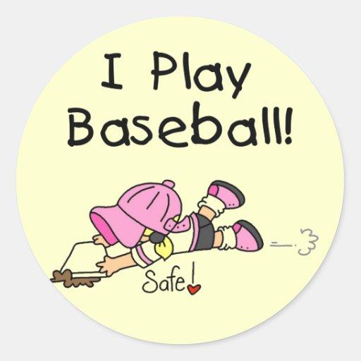 Camisetas y regalos del béisbol del juego del etiqueta redonda