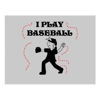 Camisetas y regalos del béisbol del juego del postal