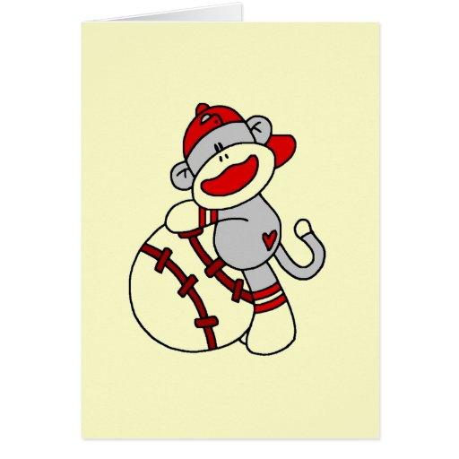 Camisetas y regalos del béisbol del mono del calce tarjeta de felicitación