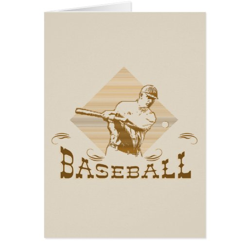 Camisetas y regalos del béisbol del viejo estilo tarjeta pequeña
