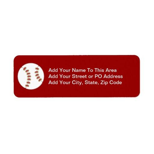 Camisetas y regalos del béisbol etiquetas de remite