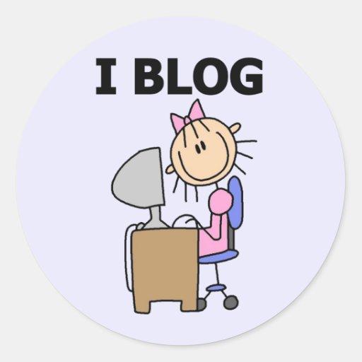 Camisetas y regalos del blog del chica I Pegatina Redonda