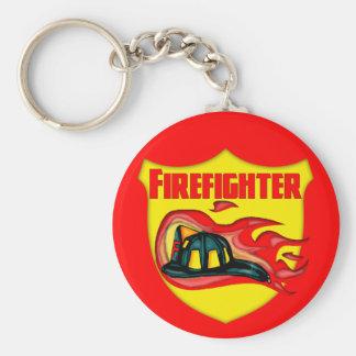 Camisetas y regalos del bombero de los niños llavero