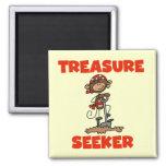 Camisetas y regalos del buscador del tesoro del pi imán de frigorífico