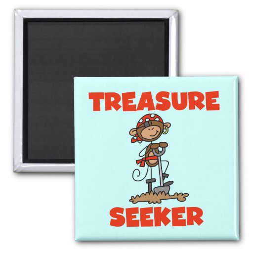 Camisetas y regalos del buscador del tesoro del pi imán cuadrado