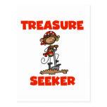 Camisetas y regalos del buscador del tesoro del pi tarjeta postal