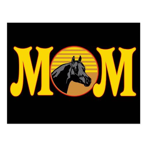 Camisetas y regalos del caballo para la mamá tarjeta postal