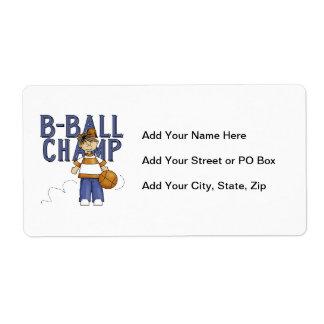 Camisetas y regalos del campeón de BBall Etiquetas De Envío