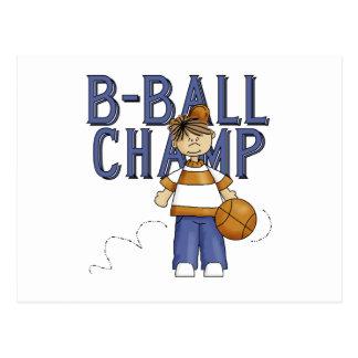 Camisetas y regalos del campeón de BBall Tarjeta Postal